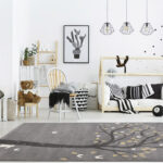 Kids,Room,With,House,Bed,,Dresser,,Chair,And,Bookshelf
